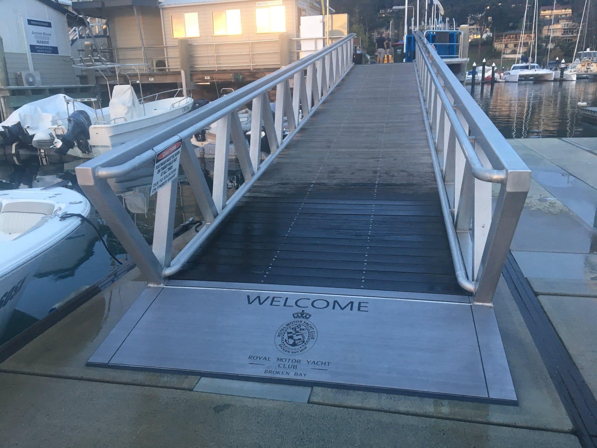 EVA marina entry ramp